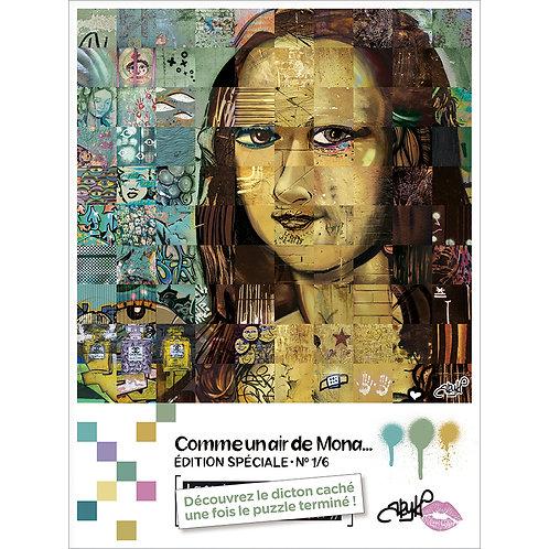 """Puzzle """" Comme un air de Mona """""""