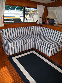 Kha Shing Trawler blue and white striped