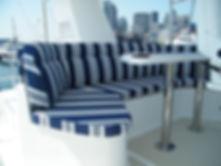 Nordhavn yacht cushions Ralph Lauren fab