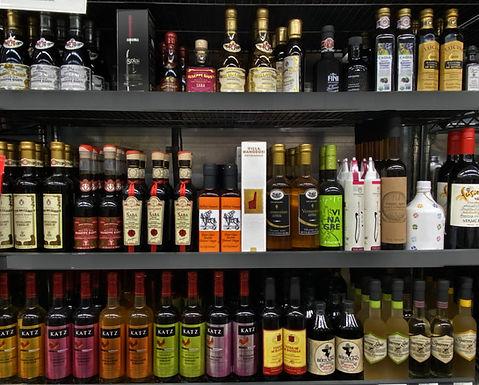 fancy  bottles of Balsamic Vinegars on s