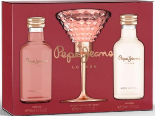 Pepe Jeans London Women 3pc Set - EDP 30ml + Bdy Lotion 50ml + Shower Gel 50ml