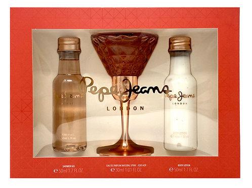 Pepe Jeans London Women 3pc Set - EDP 30ml + Bdy Lotion 50ml + Shower Gel 50ml