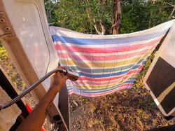 Campervan shower & curtain