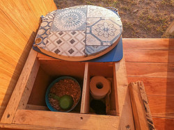 Campervan composting toilet