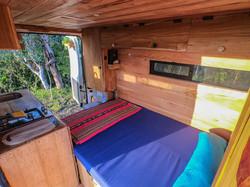 Campervan couch bed