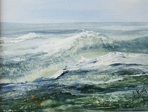Ocean Waves Acrylic on Canvas  11x14