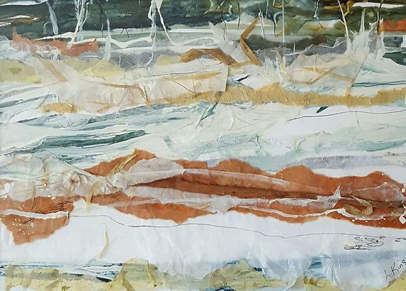 King,Linda Spring Thaw MM Collage 18x24.