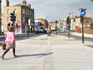 A new road surface for the high street