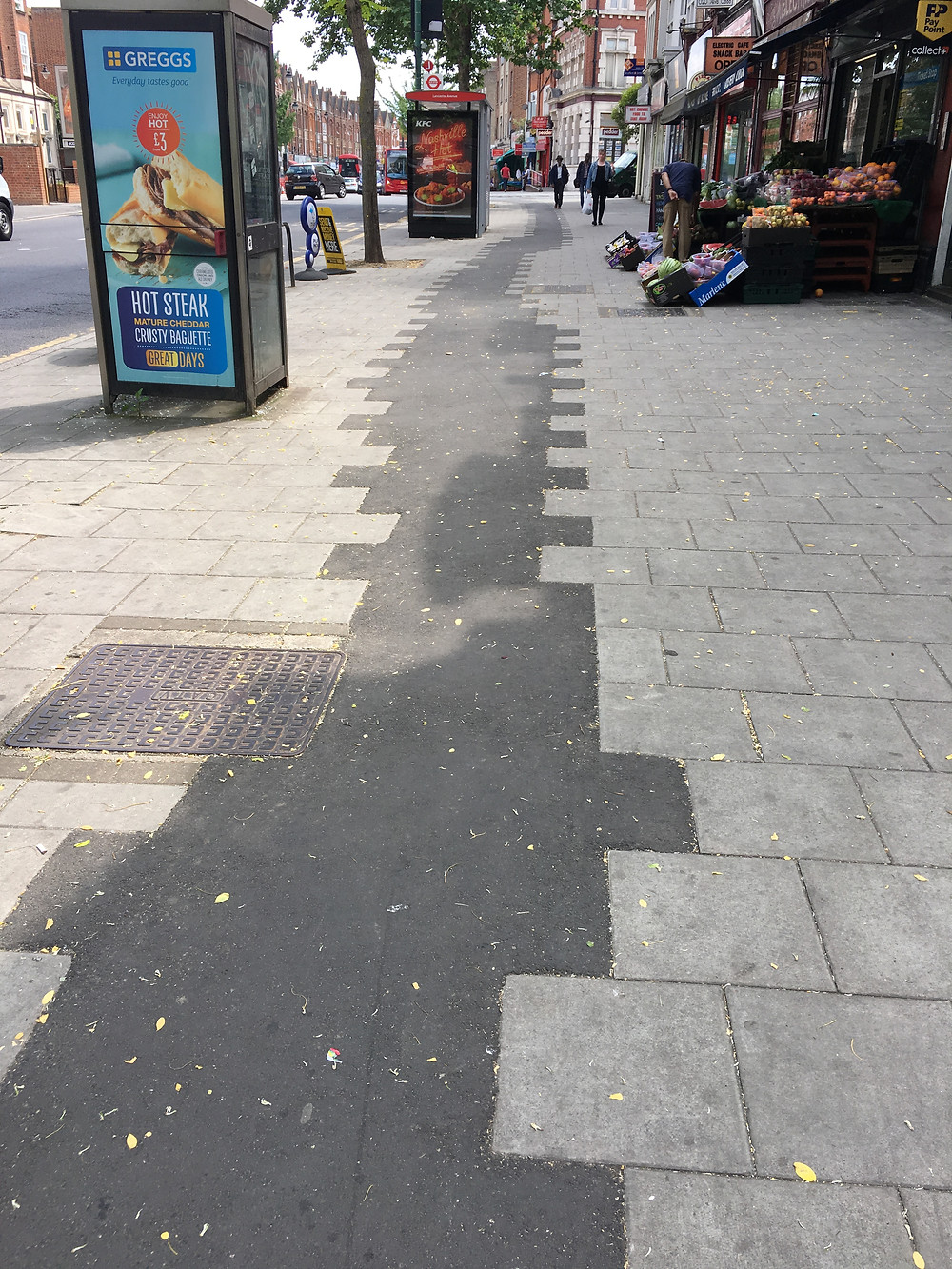 Pavement with unfinished slabs