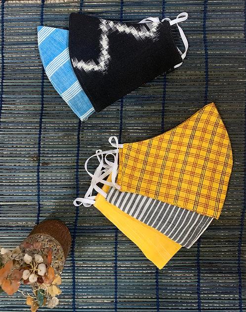 Cotton Handloom Fabric masks