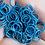Thumbnail: LAKE BLUE - 10mm Jump Ring - 50 pairs