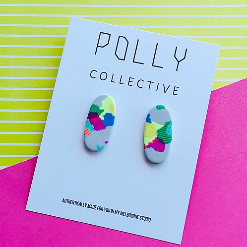 Style 134 Party Pash - Long Oval Studs