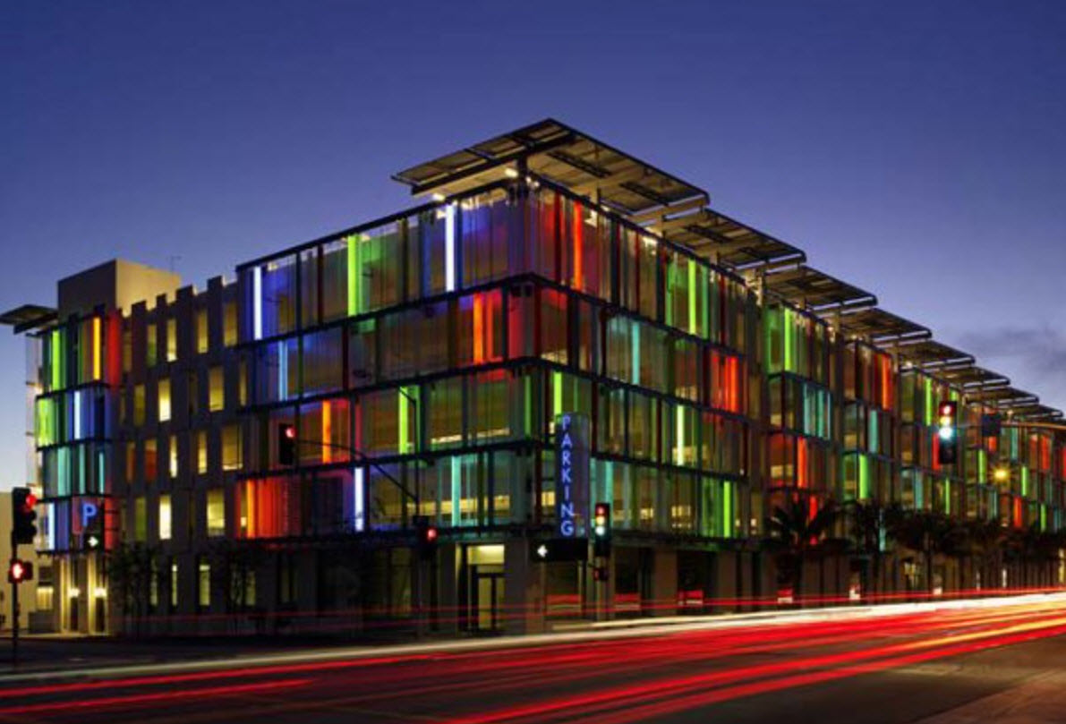 Parking Garage - Glass Facade