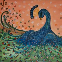 Peacock In The Rain
