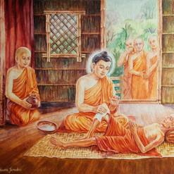 Gautam Buddha : Serving the diseased