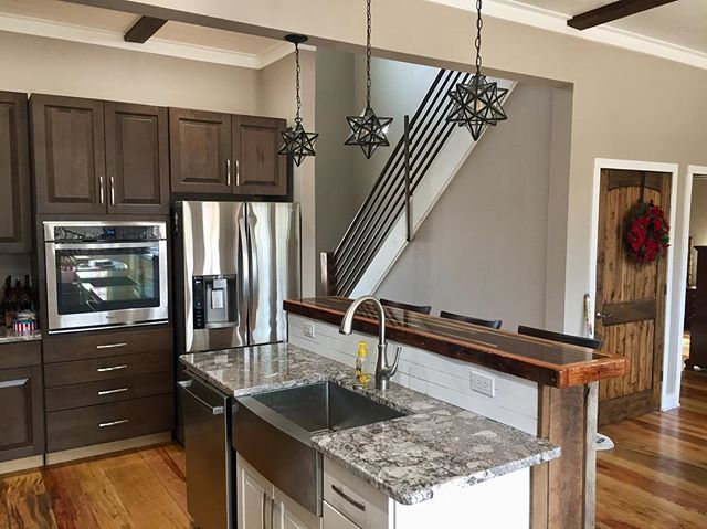 Partial view of the Lawrence House Kitchen 😍 We Love this open concept!
