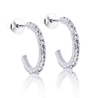 Diamond Stud Earrings with Reflection .j