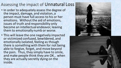 Identifying the categories of loss
