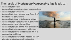 The impact of unresolved grief