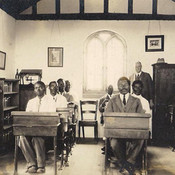 Bible school interior Mr. Gavin Smith and class c 1929.jpg