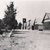 OLD TK VIEW FROM SOUTH TO CLOCK TOWER with boys dormitories on right Now demolished.jpg