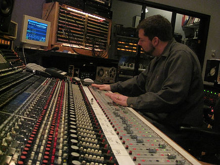 Mix Engineer, Mike Zirkel on the Trident A-Range #13, at Smart Studios in Madison, Wisconsin.