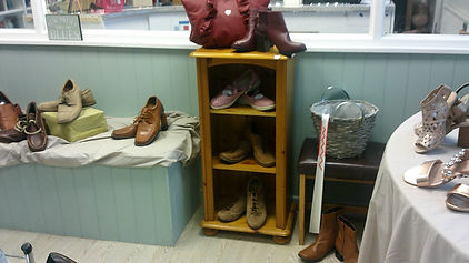 Shoes that we have on display in the charity shop
