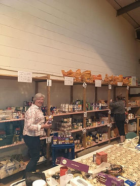 People working in the Food Bank