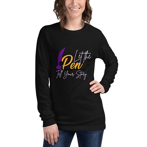 Let The Pen Tell Your Story (White) Unisex Long Sleeve Tee