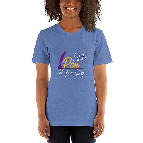 Let The Pen Tell Your Story (White) Short-Sleeve Unisex T-Shirt