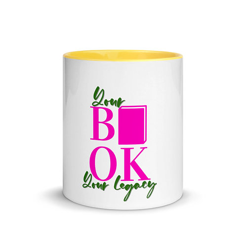 Your Book is Your Legacy Mug with Color Inside
