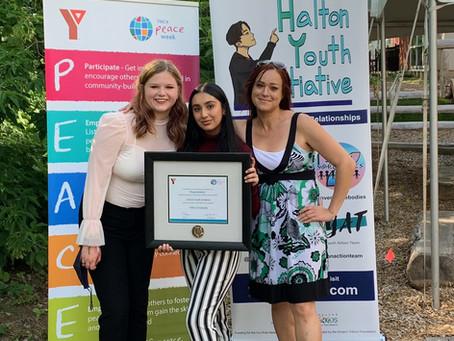 HYI Receives YMCA Peace Award