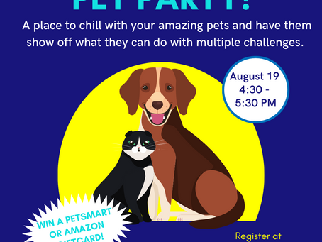 Join Us for a Virtual Pet Party!