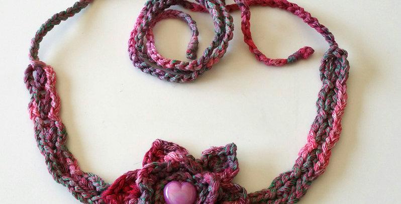 ruby crocheted lotus flower head band