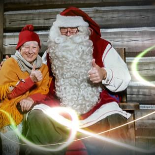 Christmas magic with Santa