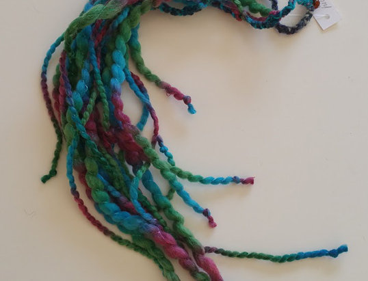 Fairytale coloured crocheted Dragon hair clip