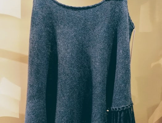 petrol blue knitted nordic amazon vest