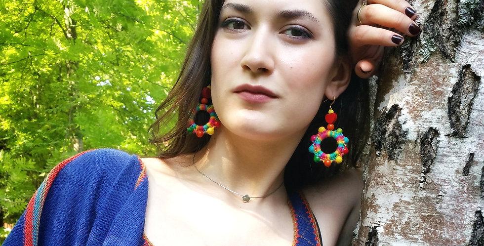 Sampo wheel earrings, Merrygoround