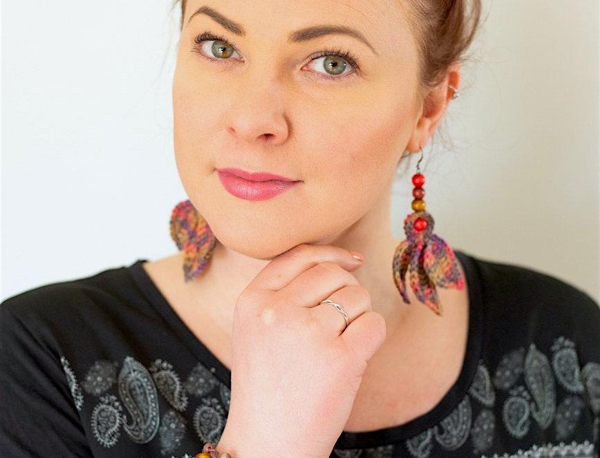 Fairy wings earrings, nocture