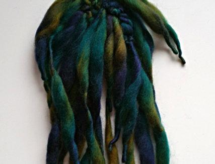 Magic forest coloured crocheted City Shaman hairband