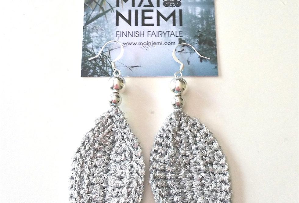 Leaf earrings (silver)