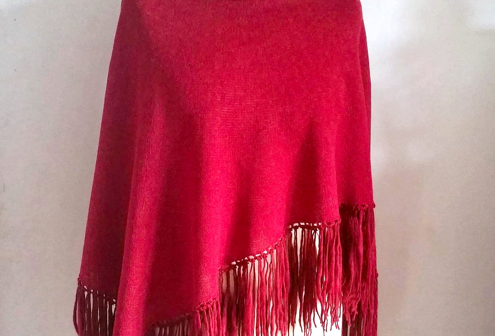 Dervish poncho (Ruby red)