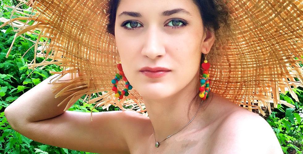 Sampo wheel earrings, Rainbow