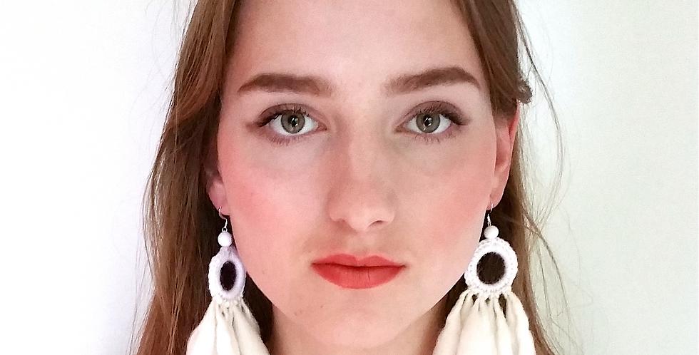 Nordic Light earrings (white)