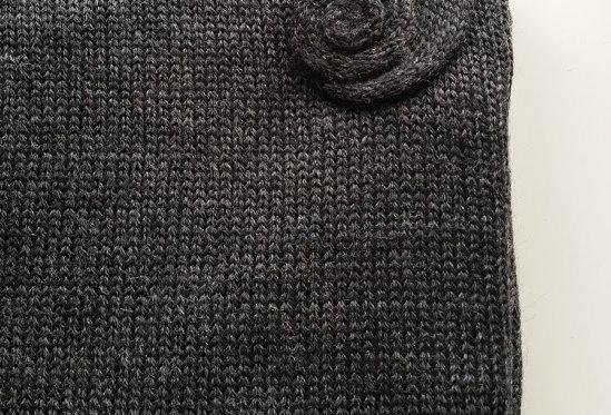charcoal knitted wellamo multicloak