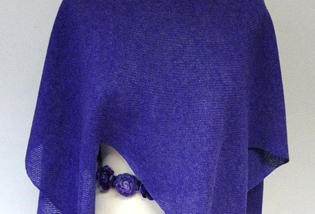 """Nordic Star"" Poncho (violet)"