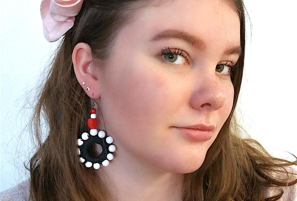 Sampo wheel earrings, marine