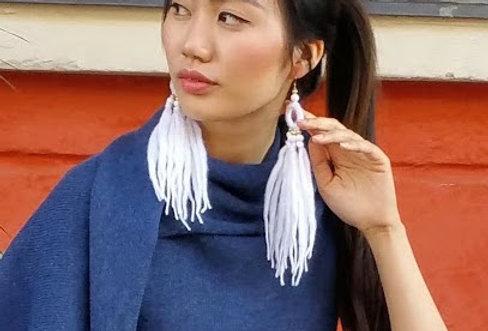 WoodO earrings (White)