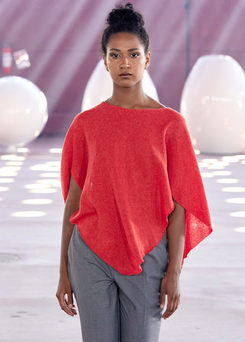 Diamond wings poncho, orange
