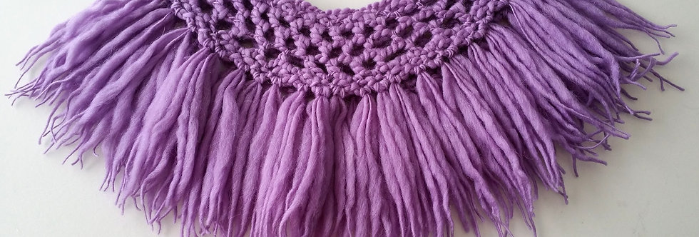 amethyst crocheted north fringe collar